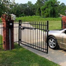 Boom gates and automated gate access.